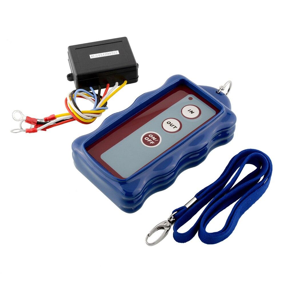 imágenes para Caliente 12 V DC Azul Kit de Control Remoto Inalámbrico Para Vehículo Cabrestante 50FT Accesorios de Automóviles $ number pies Resistente Al Agua
