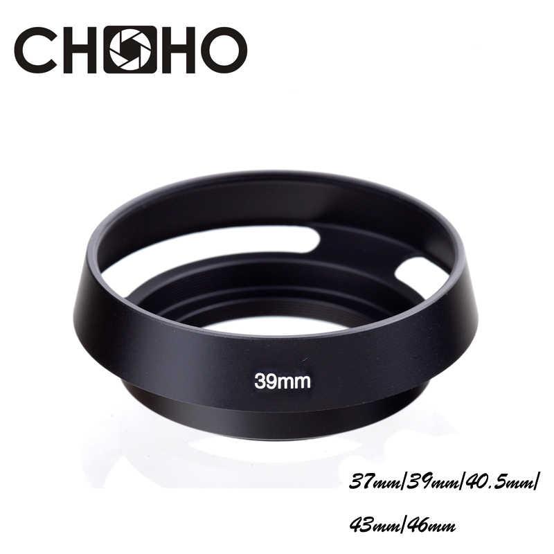 Lens Hoods 40.5mm Metal Vented Lens Hood for Leica Lens Accessories Black