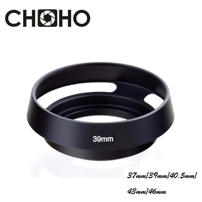 Gadget Place Silver Vented Metal Lens Hood with Cap for Leica Thambar-M 90mm F2.2