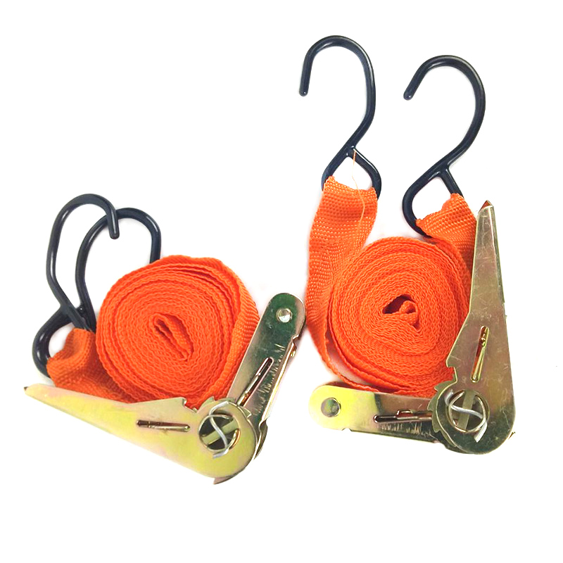 2 Pcs Endless Ratchet Strap Tie 250 Kg Downs High Strength Bandage Multipurpose Durable Load Cargo Car Tension Rope Accessories