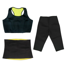 Hot Selling Women Neoprene Body Shaper Set Slim Waist Vest Pants Belt Yoga Shapers Slimming Wraps