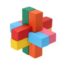 Kong Ming Luban Lock Chinese Traditional Toy Unique 3D Wooden Puzzles Classical Intellectual Wooden Cube Educational