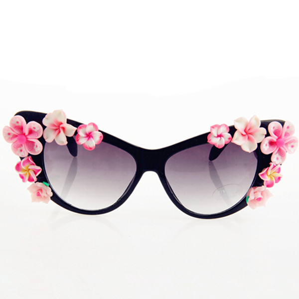 b7ec36f3ab UV400 Protection Vintage Style Shades Rose Floral Sun Glasses Flower  Acetate Frame Sunglasses YJ022