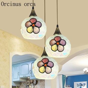 Mediterranean Restaurant chandelier creative shell meal chandelier pastoral style bar Chandelier Postage free