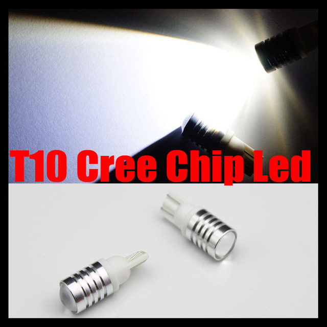 2pcs/Pair/Lot T10 194/168 W5W 3W LED Car Backup Reverse Side Parking Light Bulbs 12-24v