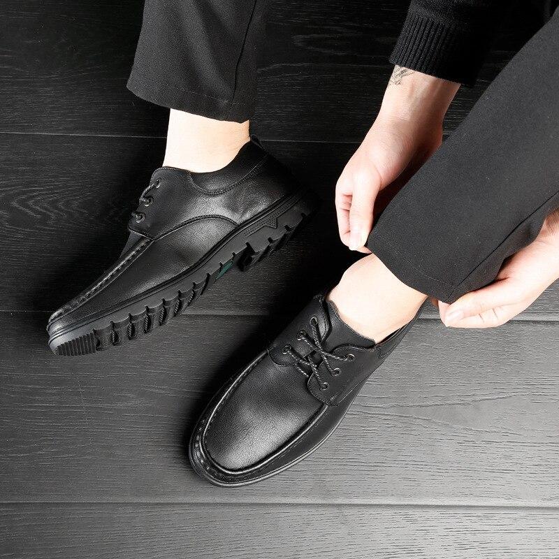 Casual De Grife Confortáveis Mpx8116216 Homens Black Qualidade brown Couro Sapatos Genuíno Alta Primavera Marca B4nngq8