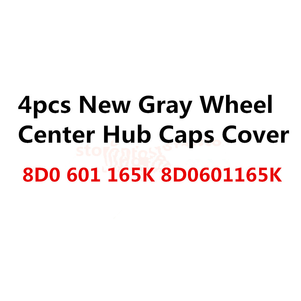 4х OEM качество автомобиля 9 отверстие крышки центра колеса Крышка ступицы серый ,подходит 8D0601165K, гнездами 8d0 601 165 K универсальный для автомобиля
