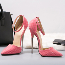 16cm Super High Metal Thin Heel Shoes