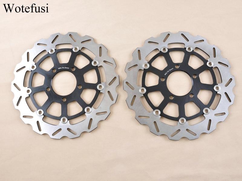 Wotefusi 2 X Front Brake Disc Rotor For GSXR 600 GSXR750 K4/K5 04-05 GSXR1000 K3/K4 03-04 2003 2004 [MT116] эксмо книга ради которой объединились писатели объединить которых невозможно
