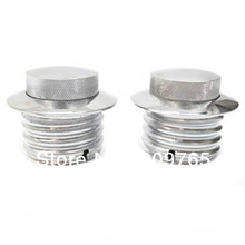 Pair Chrome Gas Fuel Tank Flush Pop UP Cap For Harley Dyna Softail Touring 1982 up