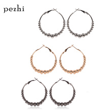 Simple and generous big circle jewelry Fashion wild new hypoallergenic ring female earrings