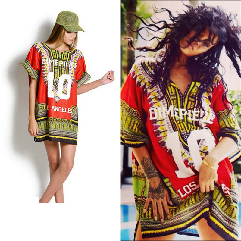 femmes t los angeles dashiki traditionnelle africaine robes actif v tements femmes sport t. Black Bedroom Furniture Sets. Home Design Ideas