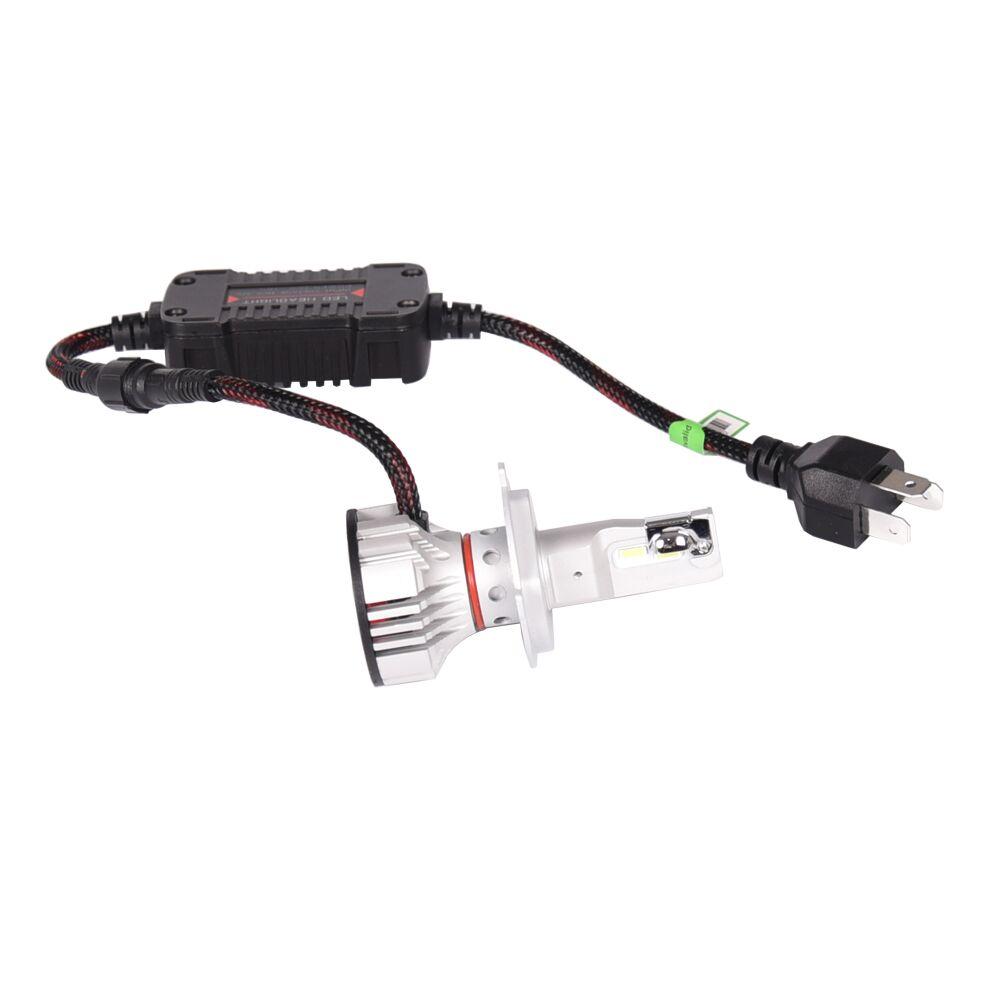 1 Set Car LED Headlight Kit F2 H4 H7 H1 H11 HB3 9005 HB4 9006 LED Bulb 72W 12000LM CSP Chips Turbo Fan 6500K Auto Headlamp Bulbs - 6