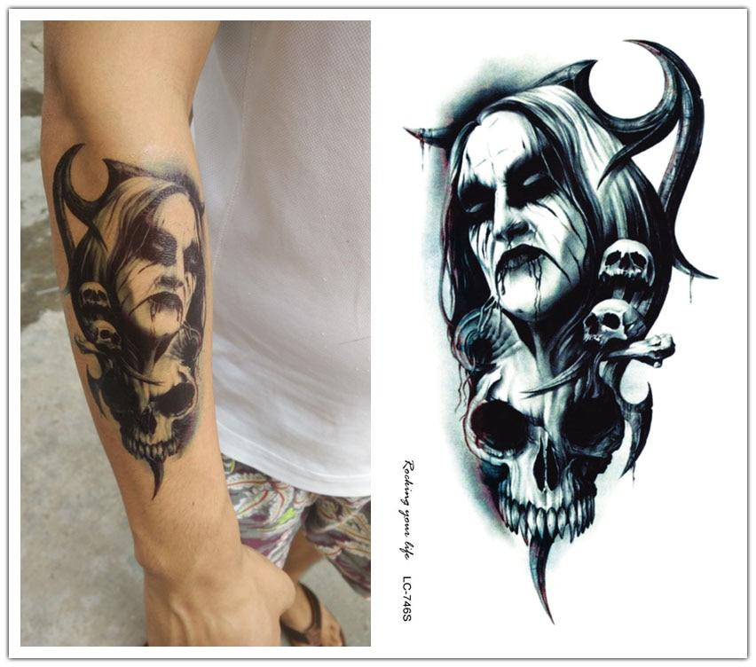 Oscuro Brazo Pegatina Flash Tatuajes Removibles En Tatuajes