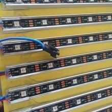 1 м длинный адресуемый WS2812B DC5V 32 светодиодный s цифровая СВЕТОДИОДНАЯ панель светильник; IP68 номинальный, u-образный алюминиевый корпус; Черный pcb
