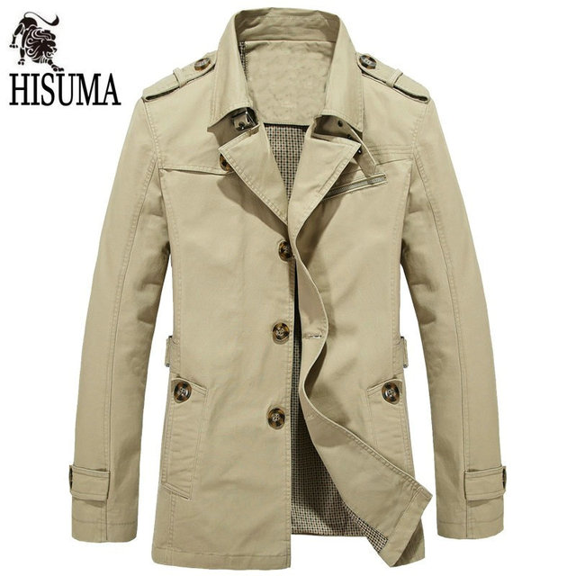 2016 Spring and Autumn New jacket male Coat men cultivating cotton washed jackets Plus Size trench men's outerwear M-5XL