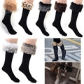 Hot Sale !! Promotion Women Winter socks female Long Boot fit Faux Fur wool Knee socks b22