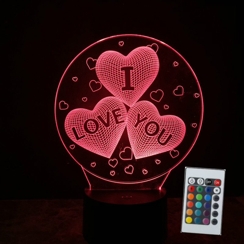 Valentines Day I LOVE YOU Lovers Light Up Toys Lighting Illusion 7