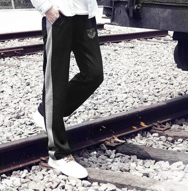 Бесплатная доставка Сверхбольших мужская одежда осень плюс размер брюки мужские брюки случайных Больших здоровья жира мужской длинные брюки 7xl