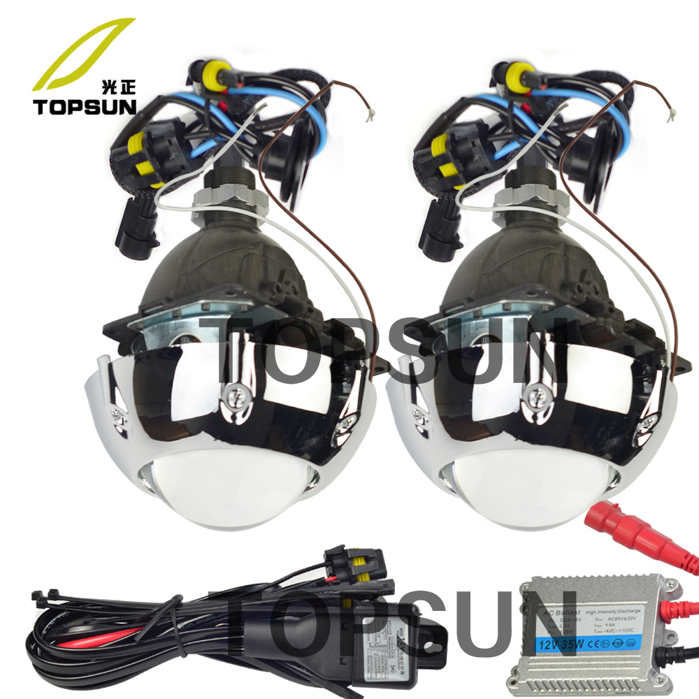 Auto Light Kit 3 inch Bifocal Koito Q5 Projector Lens,Bezels Shrouds overs,H/L Beam Control Cable,for 9005 9006 H1 H4 H7 H1