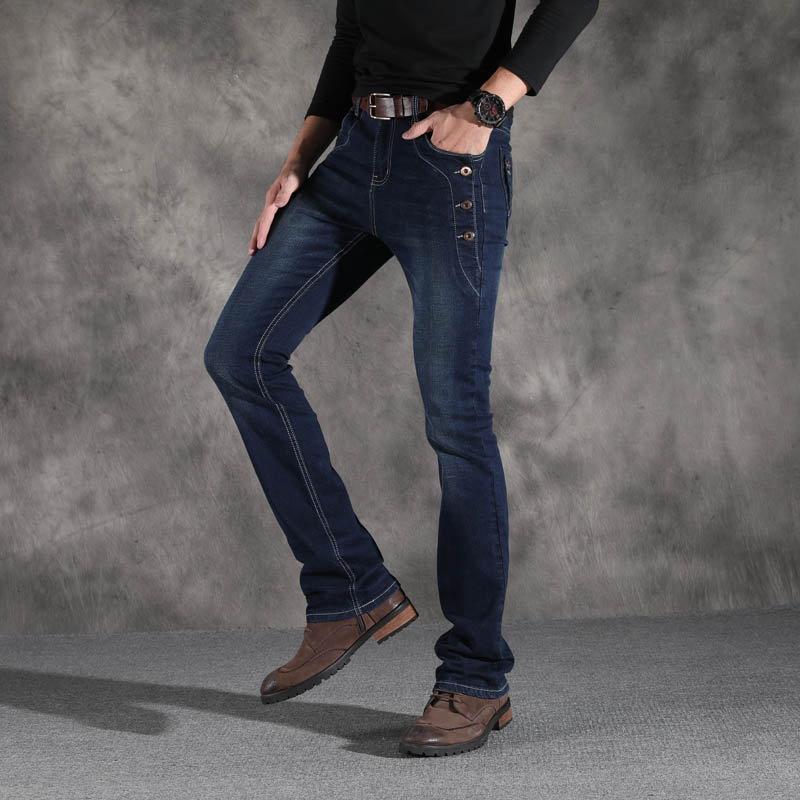 Image 2 - ICPANS Boot Cut Flared Jeans Men Vintage Stretch Regular Fit  Jeans Male Casual Mens BootCut Jeans Men Trousers 2019 Fashion  BlueJeans