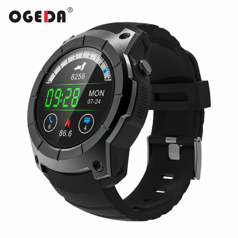 OGEDA Men GPS Smart Watch 2018 Sport Heart Rate Barometer Monitor Smartwatch Multi-sport Model Smart Watch for Android IOS S958