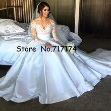 Gorgeous A-line Wedding Dresses Split Lace With Detachable S