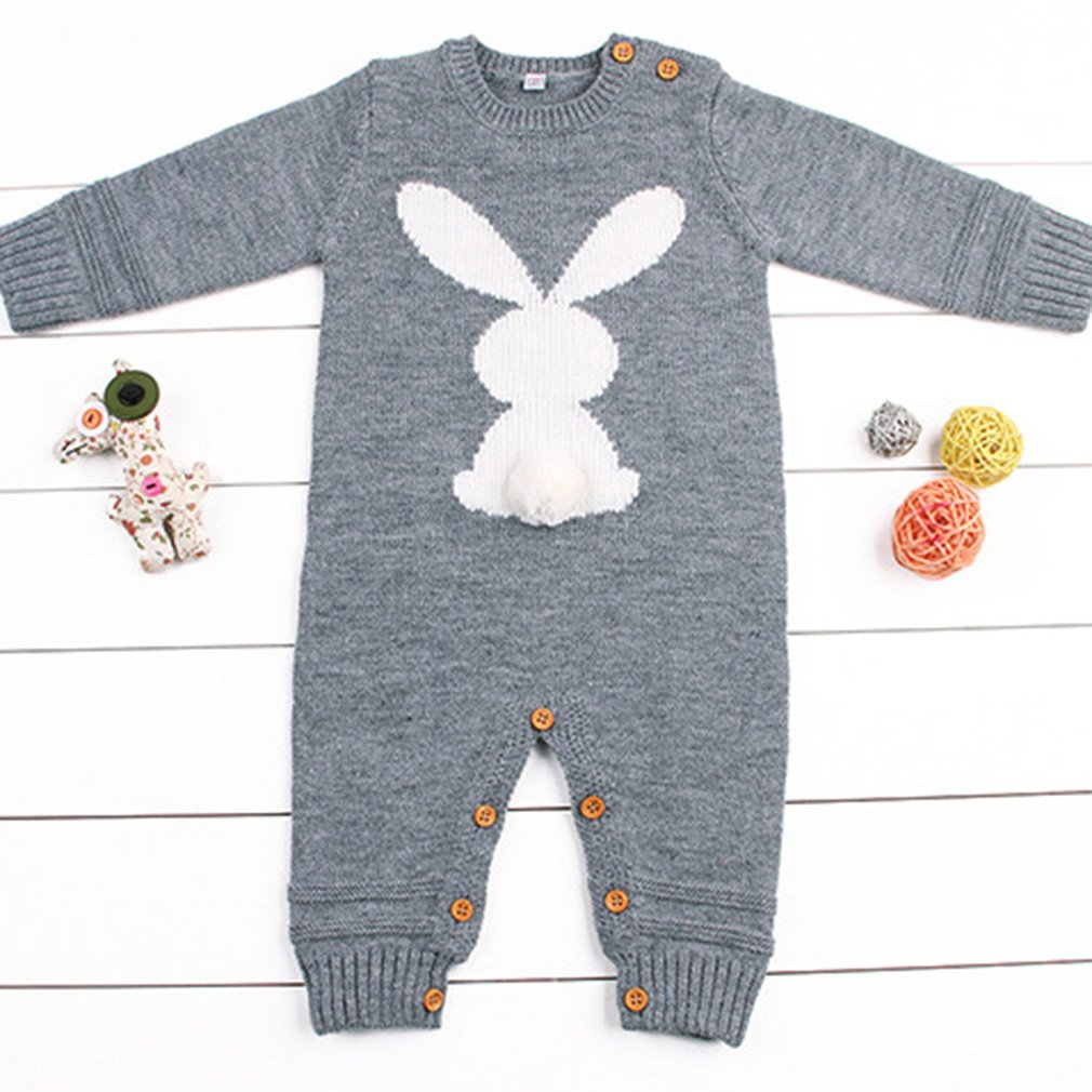 Baby Boys Girls Rompers Winter Newborn Girls Jumpsuits Long Sleeves Infant Bebe Overalls Knitted Clothes Boys One Piece Clothing