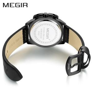 Image 3 - MEGIR erkekler kuvars spor İzle Relogio Masculino Chronograph askeri ordu saatler saat erkekler üst marka lüks yaratıcı izle erkekler