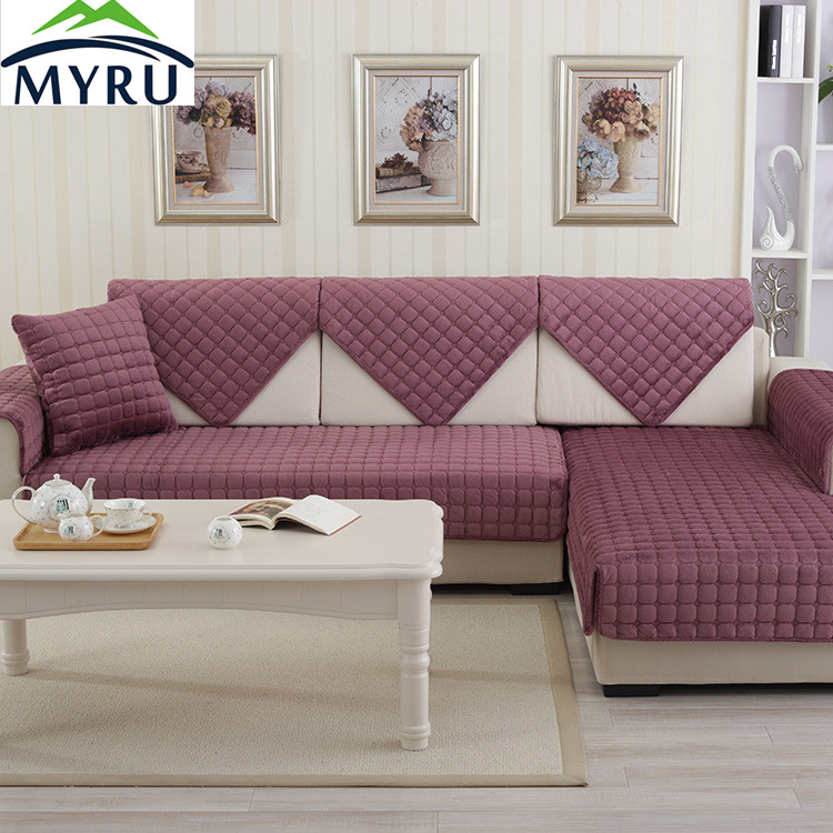 myru hot sale sofa covers slip resistant sofa towel sofa slipcover plaid pattern covers for sofa. Black Bedroom Furniture Sets. Home Design Ideas