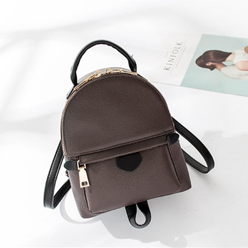 New Design monogram canvas Women Backpacks children Mini School Bags Students Palm Springs Backpack Ladies MM Bag