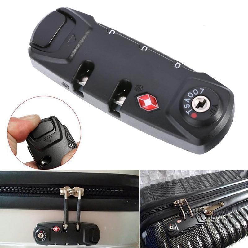 New Travel Safety 3 Digit TSA Lock Black Combination Padlock Locks Luggage Suitcase Travel Bag Code