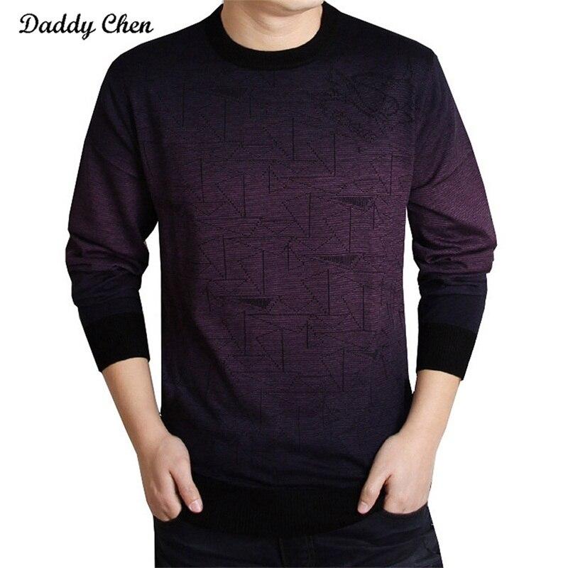 ᗜ LjഃMarca informal suéter de punto hombres Navidad slim knitwear ...