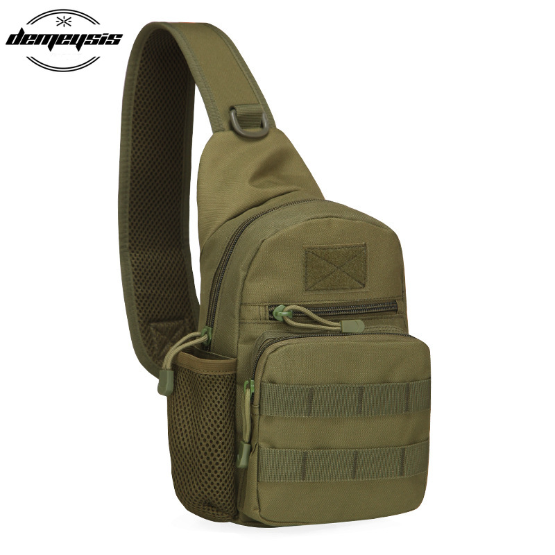 Nylon Sports Molle Chest Bag Tactical Military Shoulder Strap Bag Men Women Outdoor Camping Hiking Bag|Climbing Bags| |  - title=