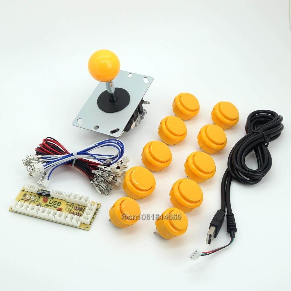 Reyann MAME Multicade Arcade Game DIY Kits Zero Delay USB Encoder + Arcade Fight Stick + Arcade Buttons To Sanwa Button Joystick