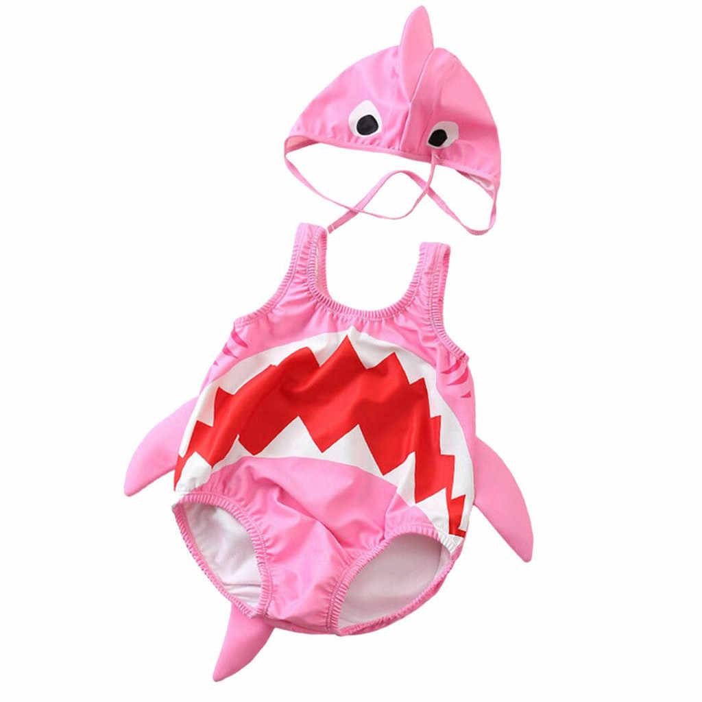 MUQGEW Лето Детское бикини мультфильм ванный комплект одежда для малышей мальчиков и девочек Купальник-Акула детский купальник бикини купальный пляжный костюм