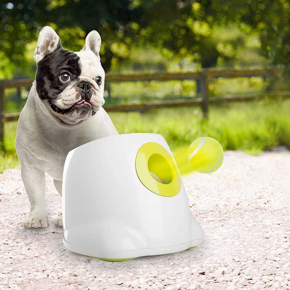 Dog toy tennis launcher automatic throwing ball service machine pinball pet training thrower