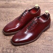 Формальные Мужские модельные туфли из натуральной кожи; черные свадебные итальянские Модные мужские туфли на шнуровке с квадратным носком