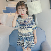 2018 nuevo primavera Otoño/Invierno/verano niñas niños Vintage floral patter vestido cómodo lindo bebé ropa niños