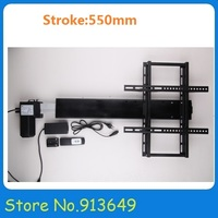 Low noise linear actuator with mounting brackets tv lift system and remote control 550mm stroke 1 set