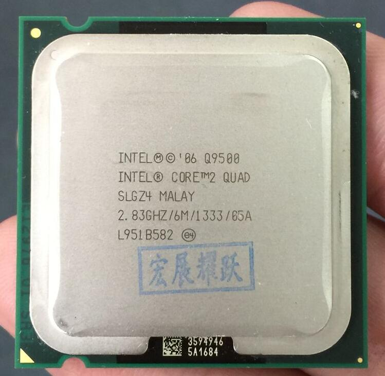 La computadora de la PC Intel Core2 Quad Processor Q9500 (6 m Cache 2,83 GHz 1333 MHz FSB) LGA775 Desktop CPU
