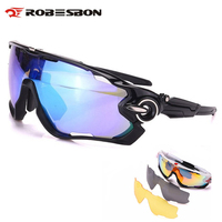 ROBESBON Polarized Cycling Glasses Bike Eyewears 3 Lens Mountain Road Bicycle Sunglasses MTB Bike Outdoor Sports