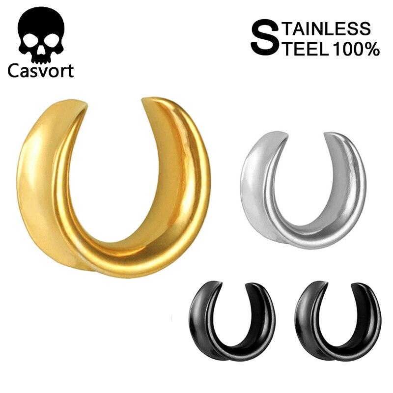 16mm Cats Eye Stone Earring Hollow Flesh Tunnel Ear plug Expander Earplug 6mm