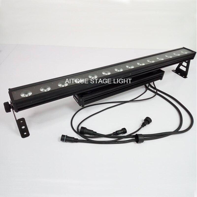 Barre de LED extérieur rvb ip65 14x30 w dot dmx mur LED laveuse 30 watts rgb cob mur LED