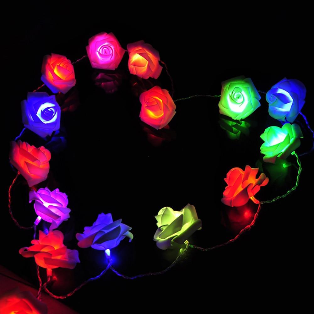 Үйлену безендіру Роза Ертегілерге - Мерекелік жарықтандыру - фото 3