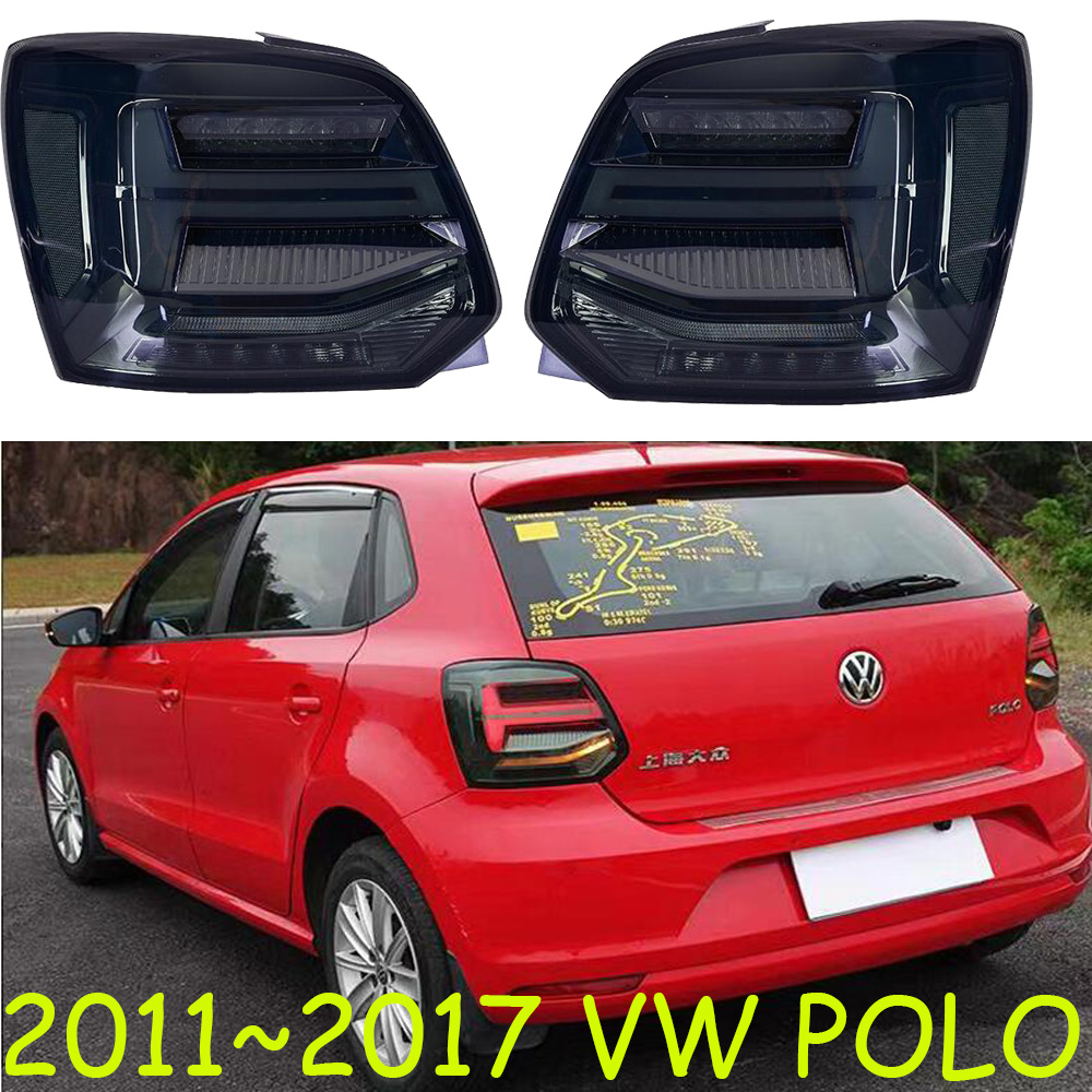 car styling polo tail lights for 2011 2017 Polo taillights LED Tail Lamp rear trunk lamp