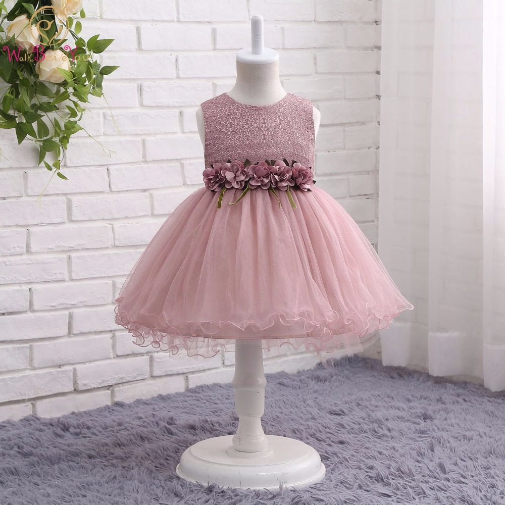 Walk Beside You Tutu Flower Girl Dresses Pink Green Gray Short Front