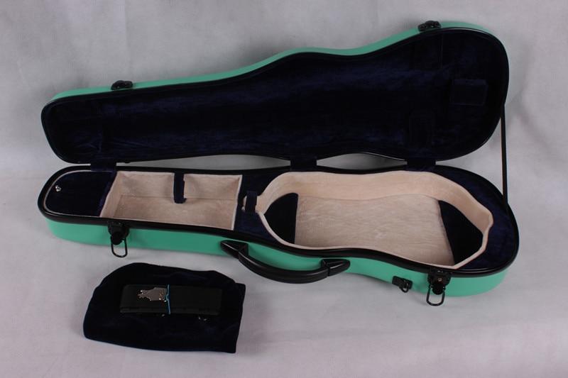 ФОТО green   4/4 Violin case Glass Fiber Soft Imitate Leather Pink White Black #GF15