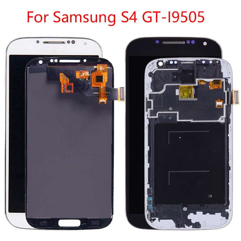 NEW <font><b>S4</b></font> LCD Display For <font><b>Samsung</b></font> <font><b>Galaxy</b></font> <font><b>S4</b></font> LCD <font><b>Screen</b></font> With Frame Replacement GT-i905 <font><b>i9500</b></font> i9506 i9515 Digitizer Assembly TFT image