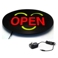 43 X 23cm Welcome EPOXY Open LED Light Sign Blink On Off Switch Bright Light Neon